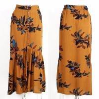 Wholesale 2018 New design high waisted print long skirts from china suppliers
