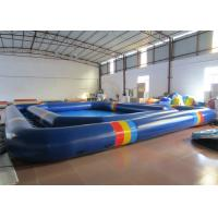 Quality Attractive Inflatable Water Games Giant Outdoor Inflatable Pool 8 * 8 * 0.65m  0.9mm Pvc Tarpaulin for sale