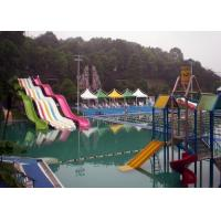 Quality Rainbow Adult Swimming Pool Water Slides For Holiday Resort 2-14 Visitors for sale