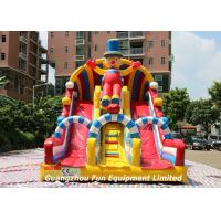 Wholesale Commercial Large Inflatable Games Clown Dry Slide Combo Bouncy House from china suppliers