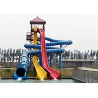 Wholesale Adult High Speed Water Slide / Commercial Fiberglass Swimming Pool Slide from china suppliers