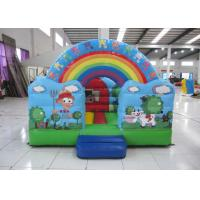 Wholesale Outdoor Rainbow Farm Kids Inflatable Bounce House 0.55mm PVC 3 X 2m For Party from china suppliers