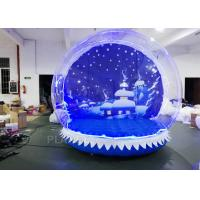 Buy cheap OEM Airblown Inflatable Snow Globe With Background Durable Serurity - Guarantee from wholesalers