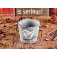Quality Vivid Bird Irregular Round Cement Candle Holder , ceramic candlestick holders for sale