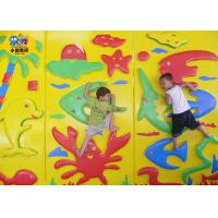 Quality Kindergarten Indoor Rock Climbing Wall Inner Wooden Middle Sponge Outmost PVC for sale