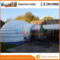 China PVC tarpaulin Dome Inflatable Igloo Tent For Camping with Hand printing on sale