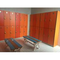 PVC Material Double Tier Lockers , Orange Small Employee Lockers For Factory