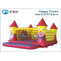 China Pvc Tarpaulin Happy Clown Inflatable Bounce House For Commercial Rental on sale