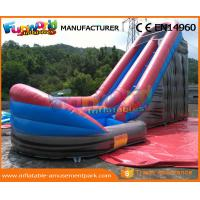 Wholesale CE Inflatable Wet Slide Grey 0.55MM PVC Tarpaulin Inflatable Slide With Pool from china suppliers