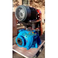 Wholesale 2 Inch Slurry Pump Coated with Natural Rubber Connected by Belts to Electric Motor from china suppliers