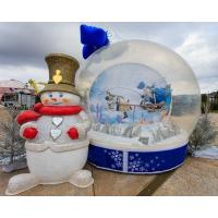 Wholesale Party Events Inflatable Christmas Decorations Air Snow Globe For Advertising from china suppliers