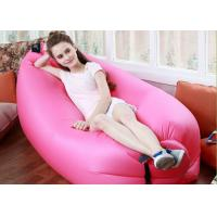 Wholesale Outdoor Inflatable Toys 225*85cm Fast Beach Sleeping Bag Lazy Lounge Bed 14 Colors from china suppliers