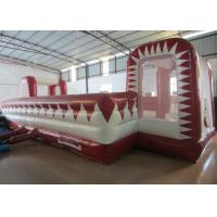 China 72 Square Meters Inflatable Soccer Game , UV Resistance Inflatable Football Field on sale