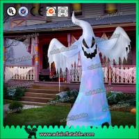 Wholesale Halloween Inflatable Decoration 3M Oxford Inflatable White Ghost With LED Light from china suppliers
