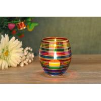 Buy cheap Wedding Decorative Glass Candle Holder , Colored Glass Votive Candle Holders from wholesalers