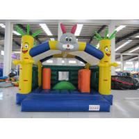 Outdoor Rabit Kids Inflatable Bounce House 5 X 4m Double Stitching In Public