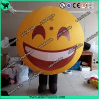 Wholesale Advertising Happy Face Inflatable QQ Inflatable Customized Walking Smile Ball Costume from china suppliers
