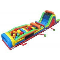 China Plato PVC Material Inflatable Obstacle Courses Beautiful And Long Durability on sale