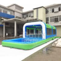 Wholesale Easy Set Up Inflatable Water Slides PVC Silk Screen Printing / Blow Up Slip N Slide from china suppliers