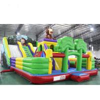 Quality High Soundness Lovely Inflatable Castle Slide With Reliable Commercial Grade Zippers for sale