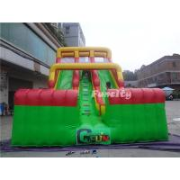 Quality Commercial 0.55mm PVC tarpaulin Double Lane Inflatable Toys Dry Slide for Kids and Adult for sale