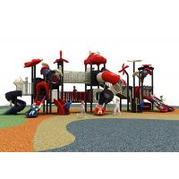 China 10 Kids Capacity Outdoor Toys Slide , Childs Plastic Slide Colorful Theme on sale