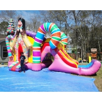 Wholesale Kids Tarpaulin Inflatable Bouncer Slide Candy Bounce House from china suppliers