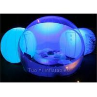 Wholesale Clear Outdoor Inflatable Dome Tent / Camping Tent With One Room One Tunnel from china suppliers