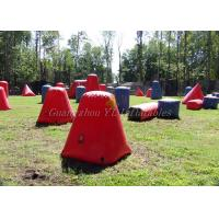 China Multi Shaped Inflatable Paintball Bunkers , Inflatable Yard Toys Air Bunkers on sale