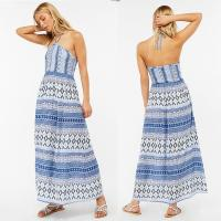 Buy cheap Factory Direct Sales Halter Maxi Dress Laddies Boho Long Dresses from wholesalers