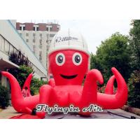 Wholesale Decorative Cartoon Model, Red Inflatable Octopus with Hat for Advertisement from china suppliers