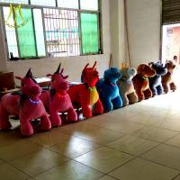 China Hansel kid ride animal toy ride park rides wholesale amusement kiddie ride time controller stuffed animal chair on sale