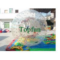 China PVC Clear Inflatable Zorb Ball / Inflatable Human Hamster Ball For Inflatable Zorb Ramp  on sale
