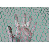 Wholesale Plastic Poultry Chicken Wire Mesh Net With Hexagonal Mesh , Green PVC Coated from china suppliers