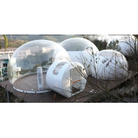 China Luxury Hotel Dome Tent Clear Inflatable Bubble Tent with Bathroom, living room, and bedroom on sale