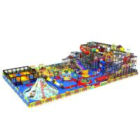 Quality Colorful Kids Indoor Playground Slide Equipment With Trampoline KPT180301T5 for sale