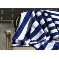 Wholesale 100% Cotton Blue & White Color Hotel Stripe Beach Towel With 80*160CM from china suppliers