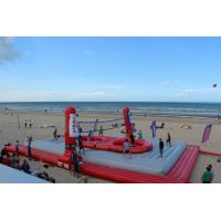 China Huge Inflatable Beach Toys Blow Up Volleyball Court With Logo Printing on sale