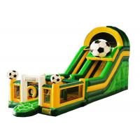 Wholesale Boys Soccer Football Inflatable Slip Slide , Playground Obstacle Outdoor Inflatable Slide from china suppliers