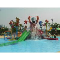 Wholesale Fiberglass / Steel Pipe Water Slides , Valves Kids' Water Playground For Water Park from china suppliers
