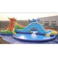 Wholesale 25m Outdoor Inflatable Water Parks with Plato PVC Tarpaulin 0.9mm from china suppliers