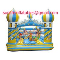 China Custom childrens inflatable bouncy castle For Rental , Home Use Bouncy Castle on sale