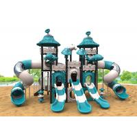 China Airplane Blue Color Kids Outdoor Plastic Slide Plastic Playsets For Toddlers on sale