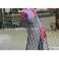 Wholesale Low Carbon Steel Gabion Wire Mesh 80 × 100 Galfan Gabion Mesh Wire For Flood Control from china suppliers