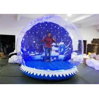 Buy cheap Water Proof Christmas Blow Up Snow Globe Transparent Display LED Lights from wholesalers