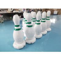 Wholesale 1.2m PVC Tarpaulins White Inflatable Human Bowling Pins For Sports Games from china suppliers
