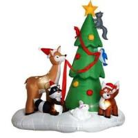Wholesale Customized PVC coated nylon outdoor Inflatable Christmas Tree Decorations for advertising from china suppliers