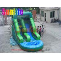 Wholesale Attractive Fire Retardant Outdoor Inflatable Water Slides For Ground Pools Grade 0.55mm from china suppliers