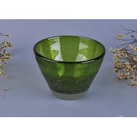 Quality Home Deco Hand Made Clear Glass Votive Candle Holders Special Dealing V Shape for sale