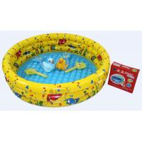 Wholesale Yellow Inflatable Swimming Pools , Plastic Air Bath Pool For Kids from china suppliers